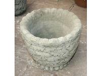 Garden Planter in Reconstituted Limestone - Oakleaf Design