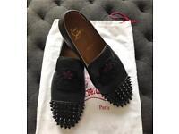 Christian Louboutin black leather Size 40 1/2(used)