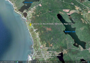 Yarmouth, Nova Scotia. Oceanfront.  6.4 acres on Bay of Fundy