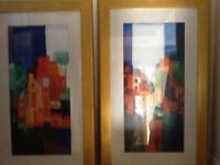 2x large abstract pictures