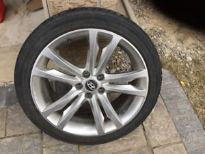 """19"""" Factory alloy rims and NEW tires 225 & 245 40 19 on 5 x 114"""
