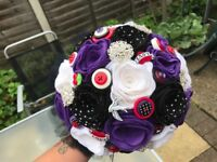 Gorgeous rockerbilly wedding flowers