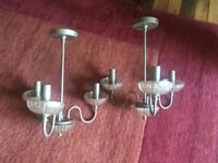 2 x 3-Light candle chandelier style light