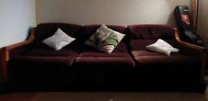 **QUICK SALE** 1 comfy couch/sofas and 1 matching lamp