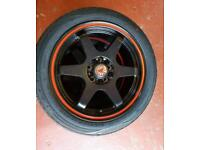 "17"" wolfrace jdm alloys and wheels brand new!!"