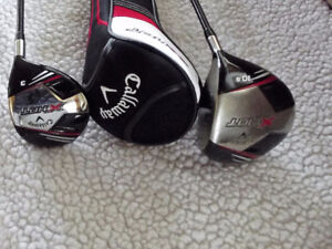 CALLAWAY  X HOT DRIVER AND 3 WOOD