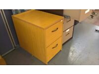 Used Two Drawer Oak Finish Filing Cabinet