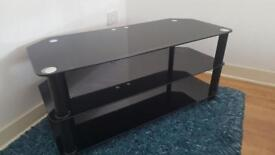 Black Glass TV Cabinet To Suit Up To 50 Inch
