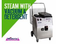 Matrix steam cleaner with vacuum