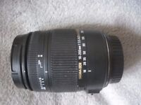 sigma 18-250 F3.5-6.3 Dc Macro os cannon ef fit with hood and lens caps also in box