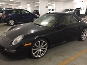 2005 Porsche 911 black and tan interior Convertible