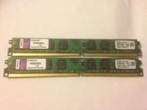 Kingston 4GB 2X2GB DDR2 800Mhz 6400 Desktop ram