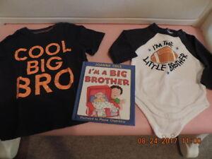 """3-6months """"Little Brother"""" & 2T """"Big Brother"""" Package"""