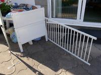 White dropside cot