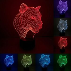 3D leopard desk lamp 100% New