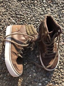 Size 12 brown high top sneakers