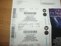 2 x Metallica Tickets Manchester MEN Arena 28th October 2017