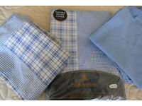 DOUBLE BED DUVET AND SIX MATCHING PILLOWCASES BLUE