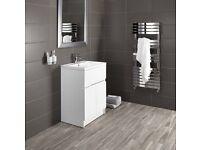 Bathstore 'Vermont - Vanity Unit- 600 - Gloss White