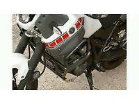 Yamaha xt660z tenere crash bars,pannier rack,alloy sump guard.