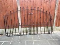 Black Wrought Iron Double Gates