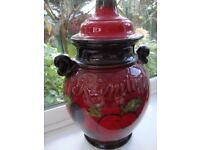Big Red Rumtof For Fruit To Liquer Is Also Lovely Ornament 14ins Tall