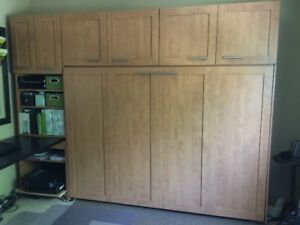 Murphy bed with stand alone units and desk