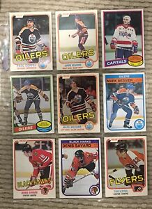 Lot of 27 early 80's rookie hockey cards, final drop, good deal