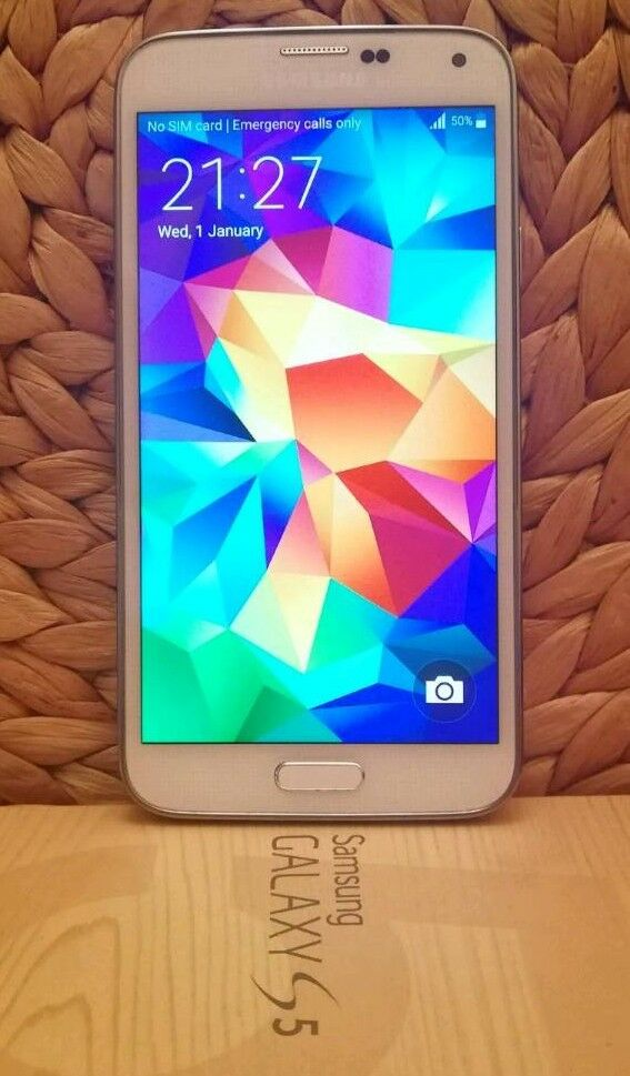 Samsung S5-Preowned in grade A condition with all original packaging and extra accessories