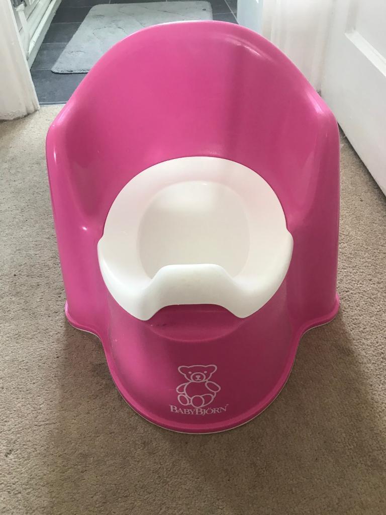 Babybjorn potty chair pink