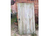 Garden gate. Featherboard