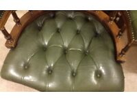 chesterfield leather desk chair