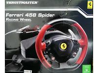 FERRARI 458 SPIDER RACING WHEEL FOR X-BOX ONE