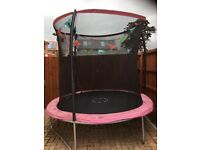 1yr old 7ft pink trampoline with safety net.