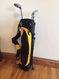 Youth golf bag and clubs