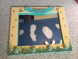 Winnie the Pooh tole painted mirror child nursery