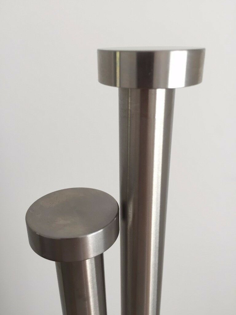 John Lewis Stainless Steel Curtain Pole 3m with Finials, Brackets ...