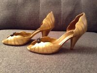 Gold leather women's shoes UK size 40 from Whistles, very good used condition