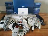 Sega dreamcast boxed with 22 games