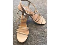 Cream sandals size 5