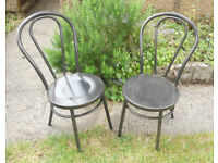 Garden, Patio, Kitchen, Dining, Steel Chairs - Thonet Bentwood Style - £30 a pair