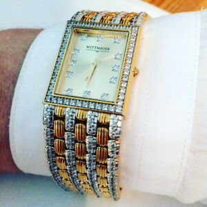 Gold and diamond watch