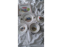 Wedgewood Thomas Tank engine cup, plate and bowl set