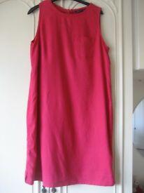 Pink linen dress Size 14