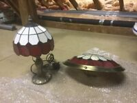 Table Lamp with shade and matching light shade