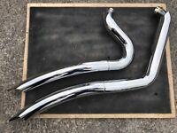 Harley Davidson VANCE and HINES big radius exhausts