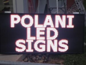 WINDOW LED SIGN PROGAMMABLE SINGLE COLOR $129.99*