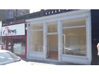 Edinburgh (EH9) Refurbished shop with large display windows on Minto Street 31e to rent