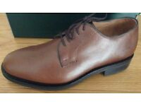 Men's Brown Handmade Italian Leather Shoe Size 7 NEW