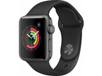 Apple Watch Series 2 Grey 42mm Case, Black Wrist Strap